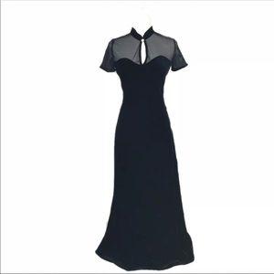 Betsy & Adam Black Velvet Dress 7/8